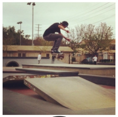 Jarrod with a kickflip at Stoner park