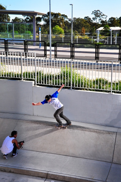 Cody - BS Tail on a Brisbane back with DNP capturing the footage! Photo - Phill Joe