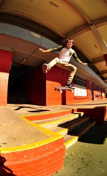 Cam only needs one foot to Ollie this gap