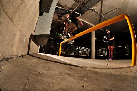 Here is Jayden when hes not practicing his scorpion manuvoures. Fs Boardslide