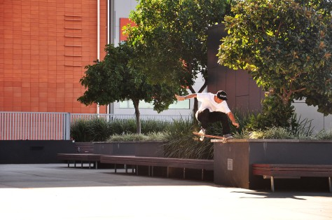 Pedro using that ninja pop to get up on this noseslide