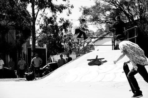 Jarrod 360 flipping over the hip
