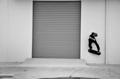 Jayden with a cheeky wallride