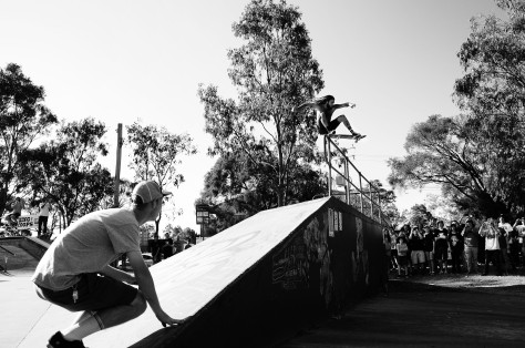 Pat Dandy is a beast and did the biggest ollie ever seen at Coops! He stomped this a few times to no avail however, Crazy.