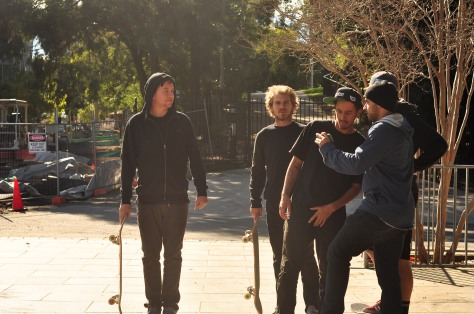 The boys checking out some spots with Brissy photog Jashan Prasad