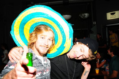 Joel and Jayden, getting into party mode