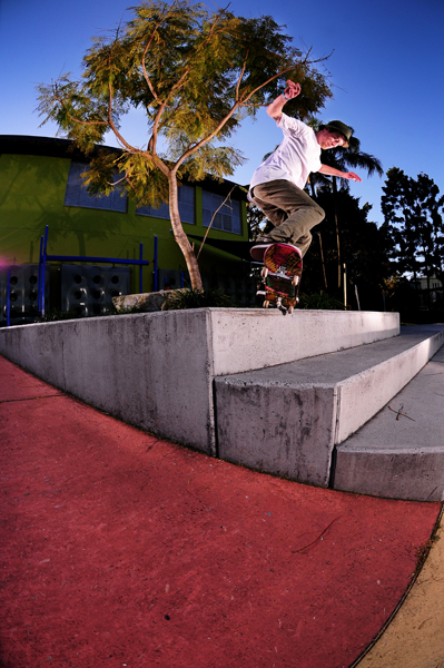 Jayden, Fakie nosegrinds of the end of this block