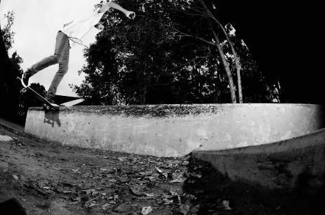 Luke Pease - Fs Noseslides over a garden gap
