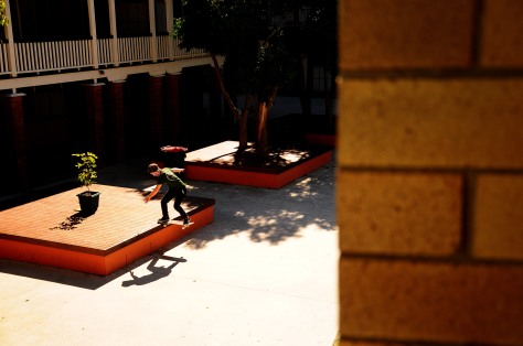 Gusto treated us with his presence a while back, he also treated us to this Fs Noseslide which he decided to Nollie into