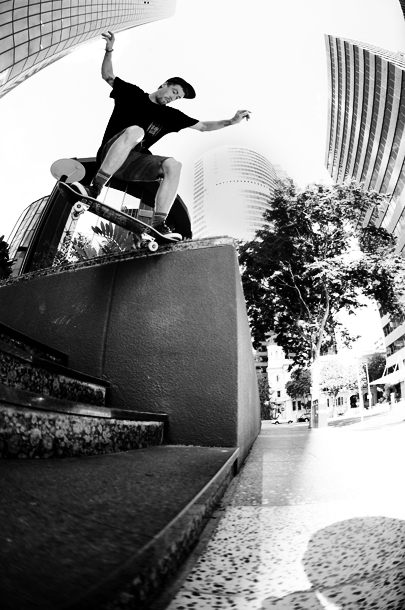 Jayden with a crooks in inner city Brisbane
